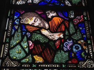 Mary Magdalene and Jesus, Dreaming by Harry Clarke